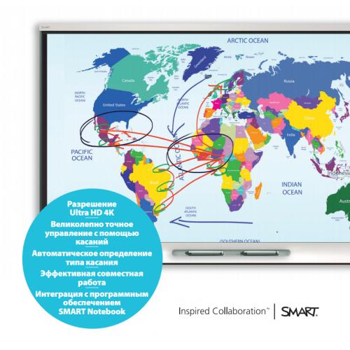 Интерактивный дисплей SPNL-6065-V interactive flat panel с ключом активации SMART Notebook