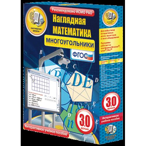 Наглядная математика. Многоугольники.5-9 классы