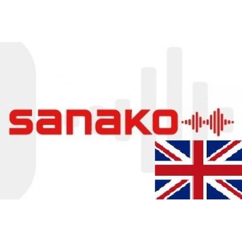 Голосовой словарь «Английский язык» (Великобритания) для Sanako Pronounce