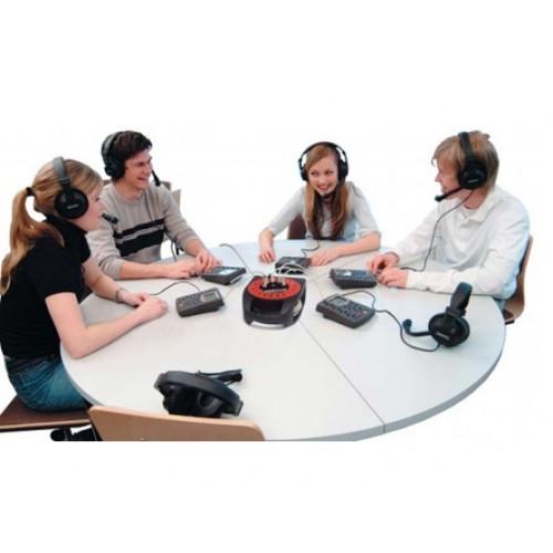 Групповой концентратор для мобильной тележки Sanako LAB на 5 аудиопанелей (длина кабеля 10 метров)