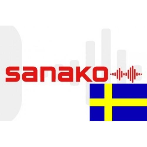 Голосовой словарь «Шведский язык» для Sanako Pronounce