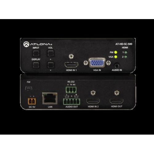 Масштабатор коммутатор HDMI и VGA сигналов с тремя входами