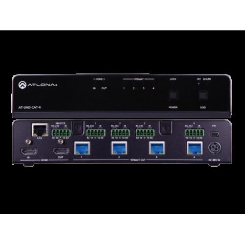 Усилитель распределитель 4K UHD с входом HDMI и 4 мя выходами HDBaseT с передатчиками