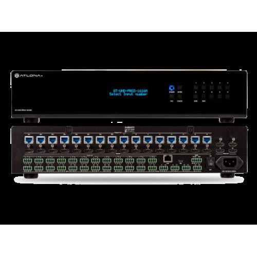 Матричный коммутатор 16x16 сигналов HDMI на HDBaseT с разрешением до 4K UHD с PoE
