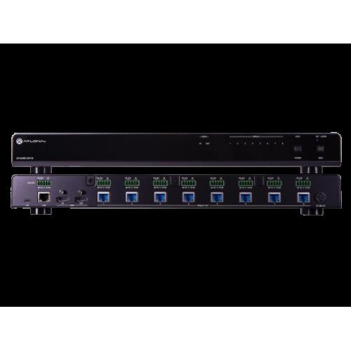 Усилитель распределитель 4K UHD с входом HDMI и 8 ми выходами HDBaseTer