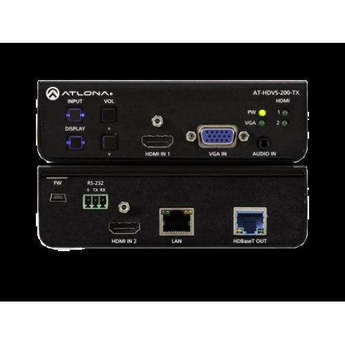 Коммутатор 3х1 с двумя входами HDMI и входом VGA и выходом HDBaseT